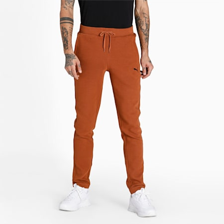 Ottoman Slim Fit Knitted Men's Sweat Pants, Mocha Bisque, small-IND