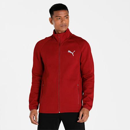 Evostripe Men's Track Jacket, Intense Red, small-IND