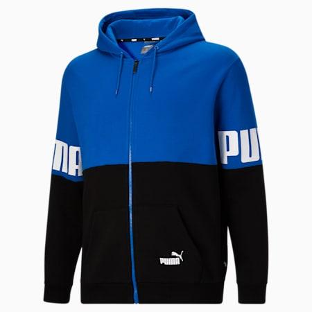 Sudadera con capucha con colores combinados PUMA POWER BT, Future Blue-Puma Black, pequeño