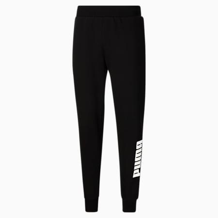 Pantalones deportivos con logo PUMA POWER para hombre, Cotton Black-Puma White, pequeño