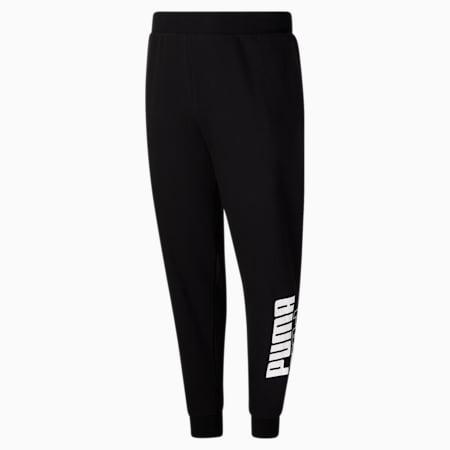 Pantalones deportivos con logo PUMA POWER, Cotton Black-Puma White, pequeño