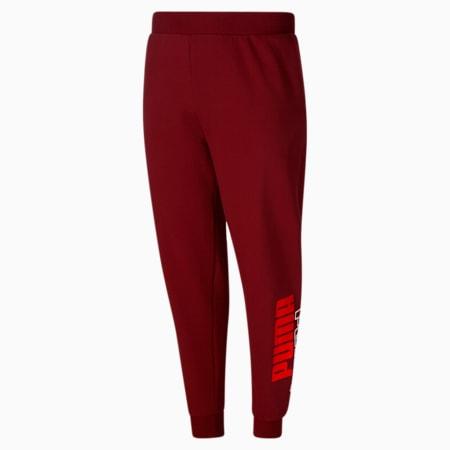 Pantalones deportivos con logo PUMA POWER, Intense Red-Puma Black, pequeño