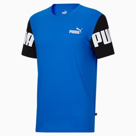 T-shirt à blocs colorés PUMA POWER, homme, Bleu futur, petit