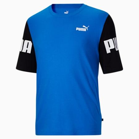 T-shirt BT à blocs colorés PUMA POWER, homme, Bleu futur, petit