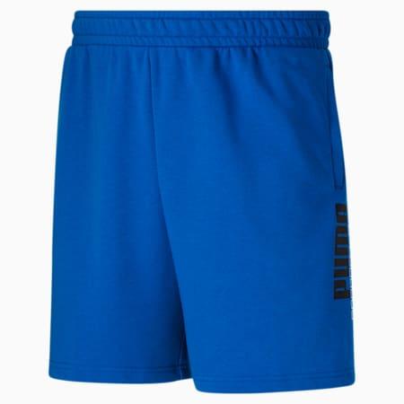 Short d'entraînement BT logo PUMA POWER 8 po, homme, Bleu futur-Blanc Puma, petit