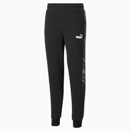 Graphic Men's Sweatpants, Cotton Black, pequeño