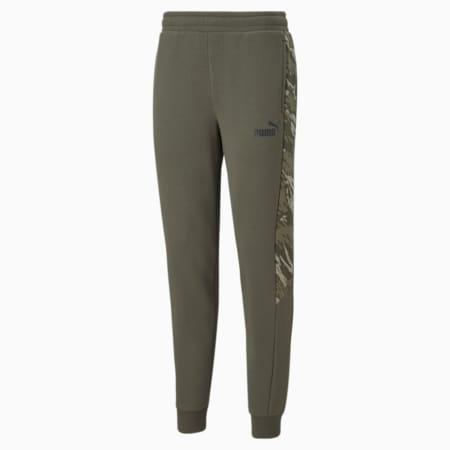 Graphic Men's Sweatpants, Grape Leaf, pequeño