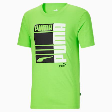 T-shirt Formstrip PUMA graphique, homme, Vert Flash-Blanc Puma, petit