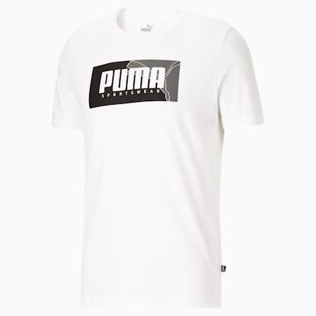 T-shirt graphique PUMA Box, homme, Blanc Puma, petit