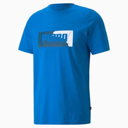 Camiseta estampada PUMA Box para hombre, Future Blue, pequeño