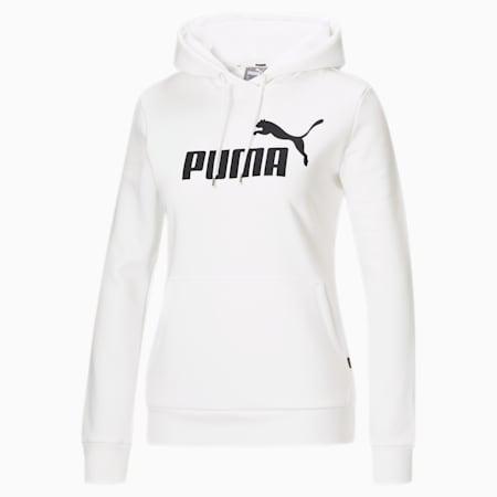 Sudadera con capucha Essentials para mujer, Puma White, pequeño