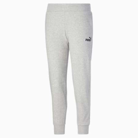 Pantalones deportivos Essentials para mujer, Light Gray Heather-Puma Black, pequeño
