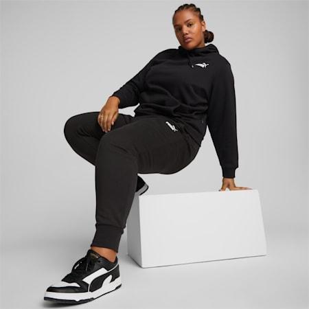 Pantalon en molleton Essentials PL, Noir coton-Blanc Puma, petit