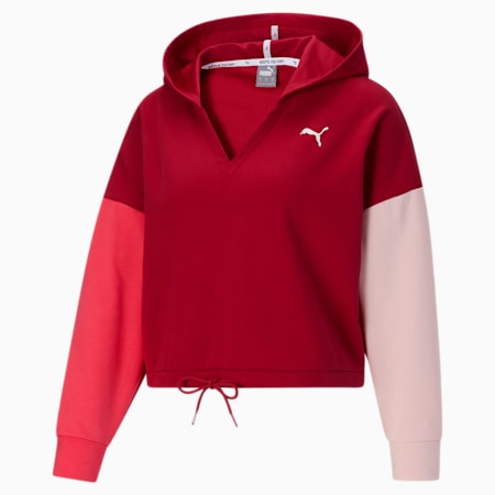 Chaqueta con capuchaModernSports para mujer, Persian Red, pequeño