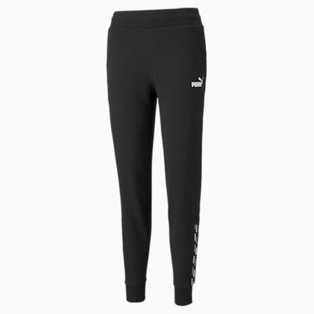 Pantalon d'entraînement PUMA POWER, femme, coton noir, petit