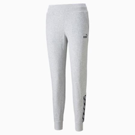 Pantalones deportivos PUMA POWER para mujer, Light Gray Heather, pequeño