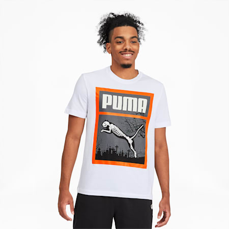 Halloween Men's Tee, Puma White, small