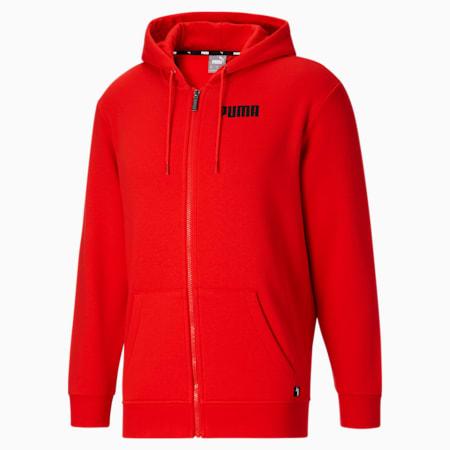 Sudadera con capucha PUMA POWER FZ para hombre, High Risk Red, pequeño