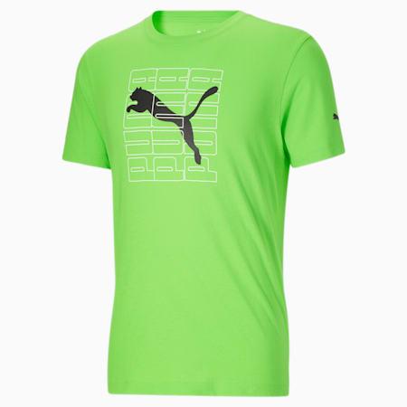 T-shirt bloc dimensionnel, homme, nouveau-né, Éclair vert, petit