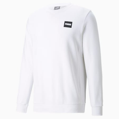 Crew Neck Men's Sweatshirt, Puma White, small