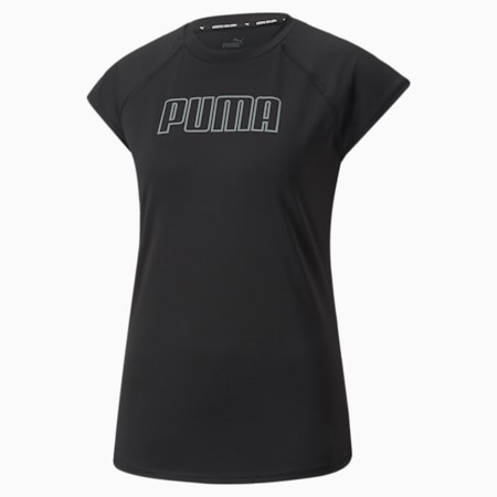 Active Essentials Poly Damen Trainings-T-Shirt, Puma Black, small