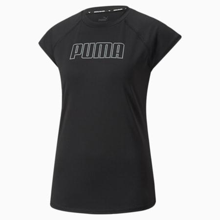 T-shirt da training Active Essentials in poliestere da donna, Puma Black, small