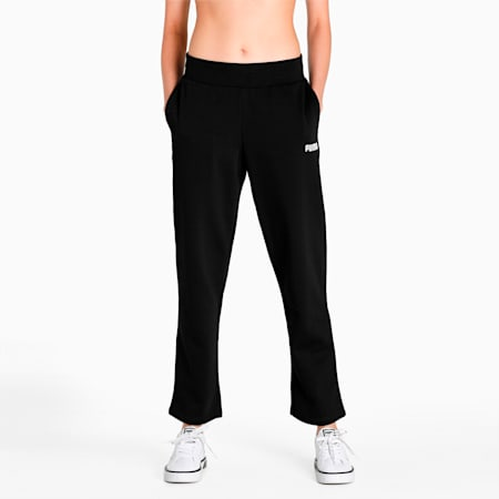 Essential Regular Fit Knitted Women's Sweat Pants, Puma Black, small-IND