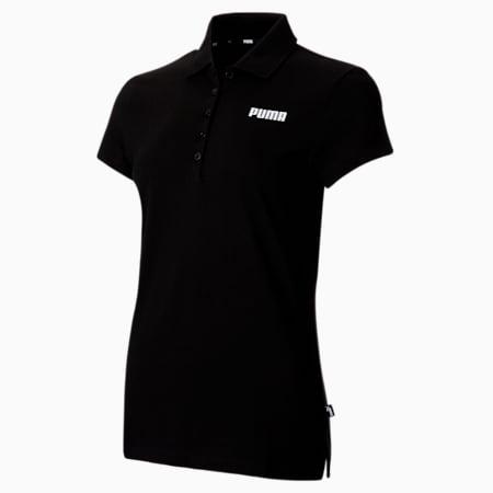 Essentials Pique Women's Polo Shirt, Puma Black, small-SEA