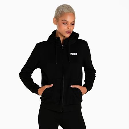 Essential Full-Zip Women's Hoodie, Puma Black, small-IND