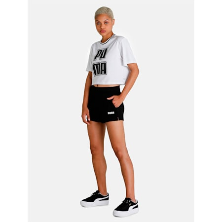 Essential Knitted Women's Sweat Shorts, Puma Black, small-IND