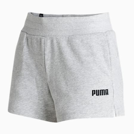 Essential Knitted Women's Sweat Shorts, Light Gray Heather, small-IND