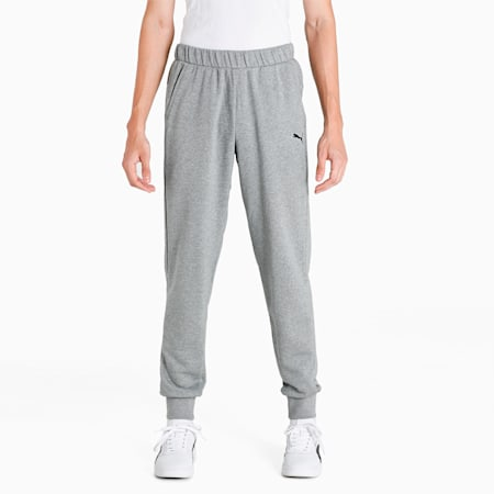 Essential Knitted Men's Sweat Pants, Medium Gray Heather, small-IND