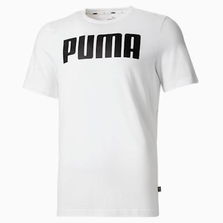 PUMA Essential Regular Fit Men's T-Shirt, Puma White, small-IND