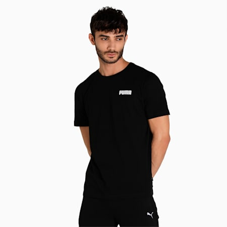 PUMA Essential Small Logo Regular Fit Men's T-Shirt, Puma Black, small-IND