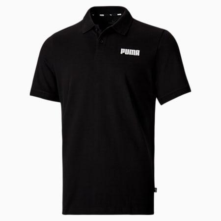 Essentials Pique Men's Polo Shirt, Puma Black, small-SEA