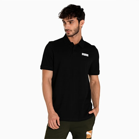 Essentials Pique Regular Fit Men's Polo, Puma Black, small-IND