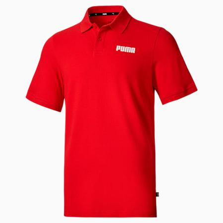 Essentials Pique Men's Polo Shirt, High Risk Red, small-SEA