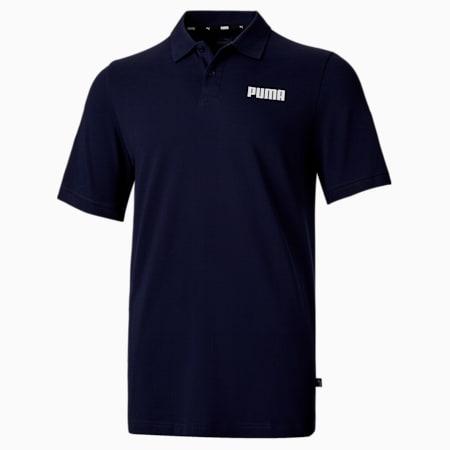 Essentials Pique Men's Polo Shirt, Peacoat, small-SEA
