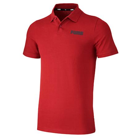 Essentials Pique Men's Polo Shirt, Pomegranate, small-SEA