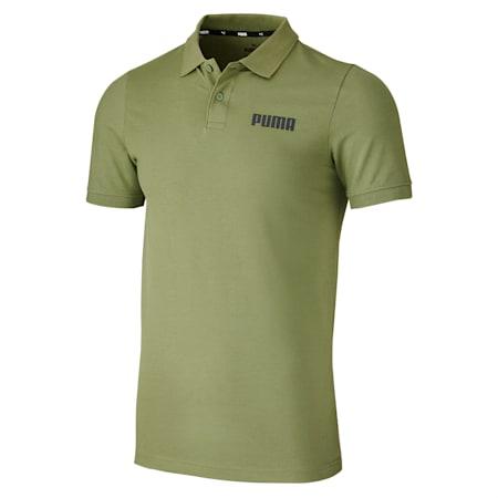 Essentials Pique Men's Polo Shirt, Olivine, small-SEA