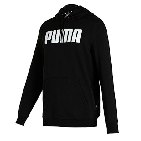 Felpa con cappuccio Essentials lunga da uomo, Puma Black, small