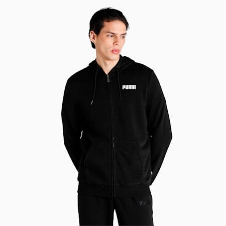 Essential Full-Zip Men's Hoodie, Puma Black, small-IND