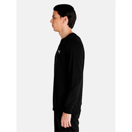 Essential Crew Regular Fit Men's Sweat Shirt, Puma Black, small-IND