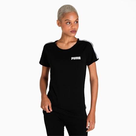 PUMA Tape Regular Fit Women's T-Shirt, Puma Black, small-IND