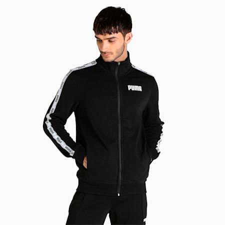 PUMA Tape Full-Zip Regular Fit Men's Sweat Shirt, Puma Black, small-IND