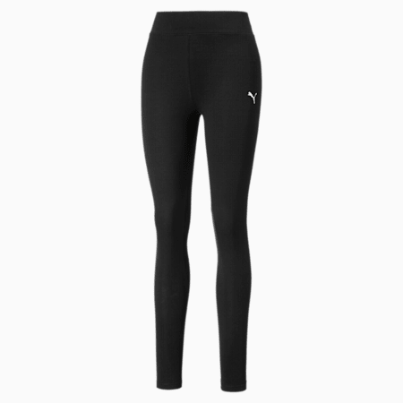 Cat Logo Women's Leggings, Puma Black, small
