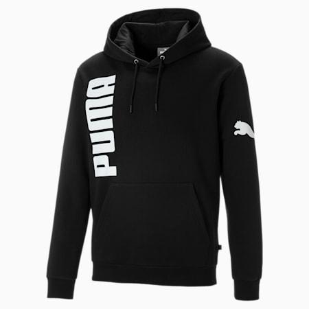 Big Logo Fleece Men's Hoodie, Puma Black, small