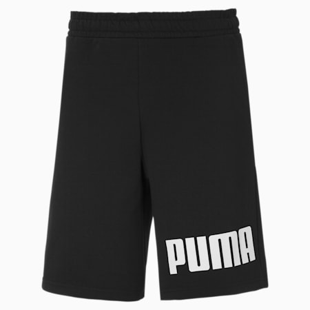 Branded Terry Men's Sweat Shorts, Puma Black-Puma White, small