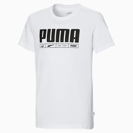 Branded Jungen T-Shirt, Puma White, small