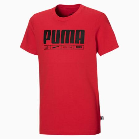 T-Shirt Branded pour garçon, High Risk Red, small